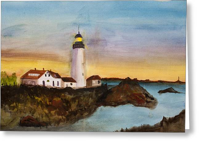 North Truro Light House Cape Cod Greeting Card
