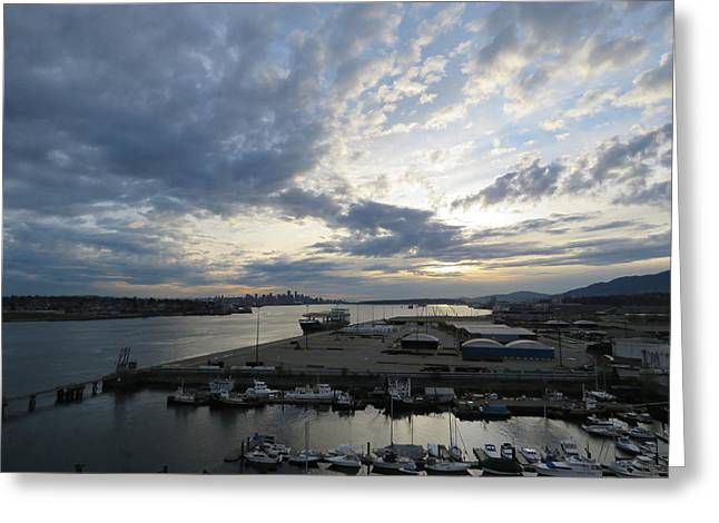 North Vancouver And Vancouver Greeting Card