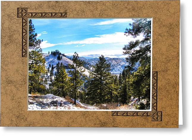 Greeting Card featuring the photograph North View by Susan Kinney