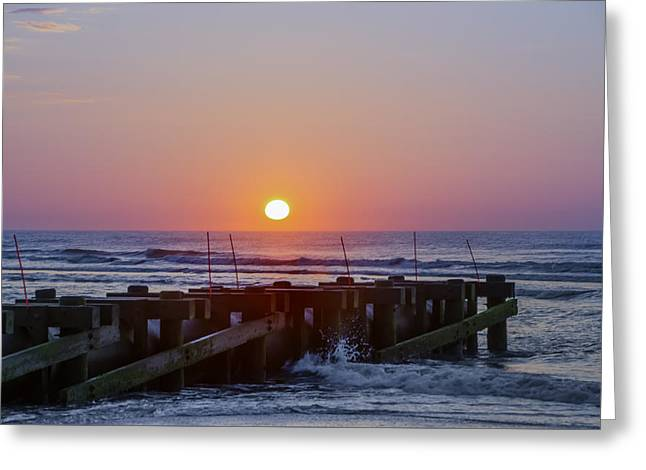 North Wildwood At Sunrise Greeting Card by Bill Cannon