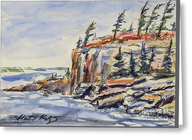 North Wind Greeting Card by Heather Kertzer