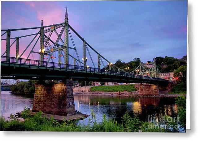 Northampton Street Bridge At Sunset Greeting Card