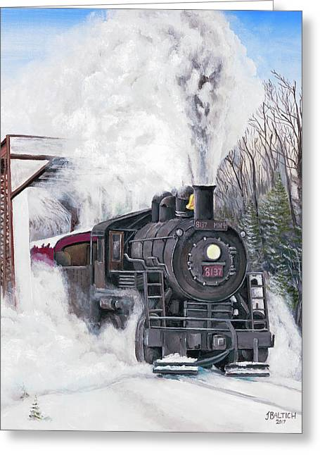 Northbound At 35 Below Greeting Card