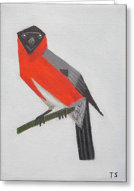 Northern Bullfinch Greeting Card