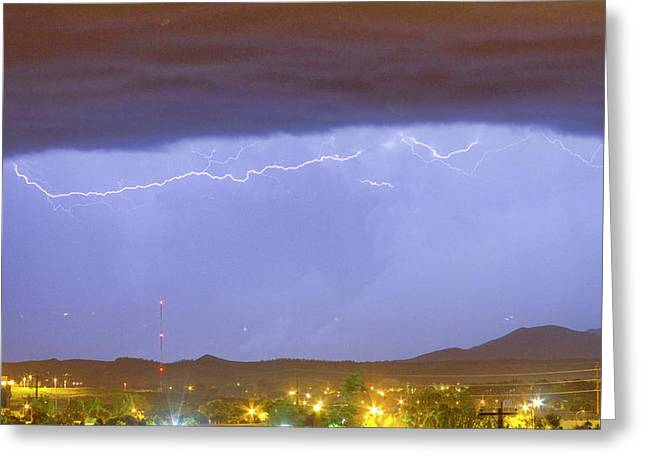 Northern Colorado Rocky Mountain Front Range Lightning Storm  Greeting Card