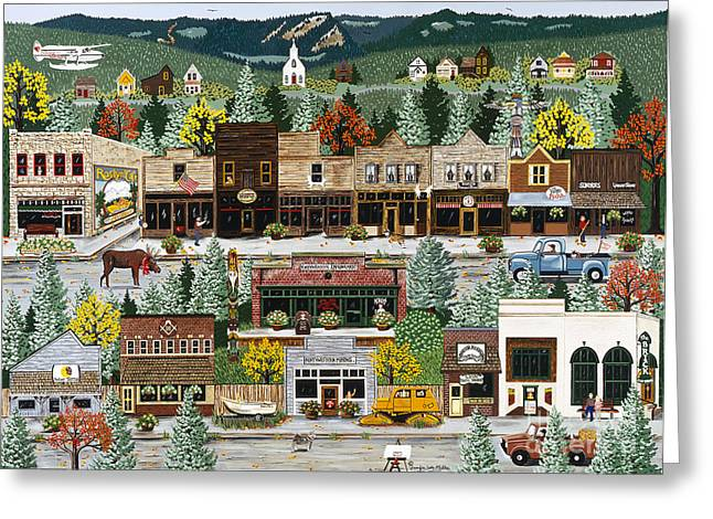 Northern Exposure Greeting Card by Jennifer Lake