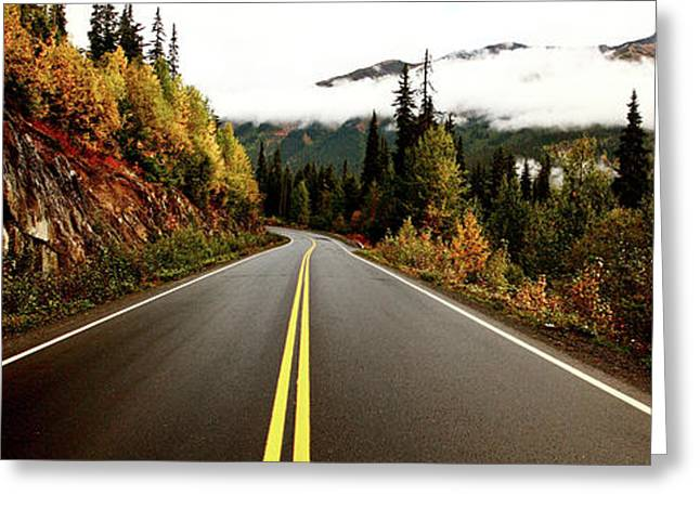 Northern Highway Yukon Greeting Card by Mark Duffy