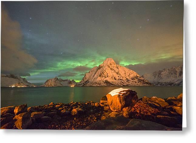 Spectacular Night In Lofoten 3 Greeting Card