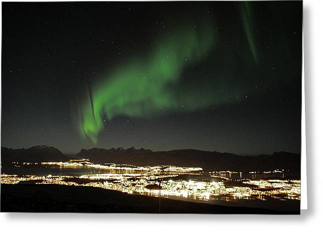 Northern Light In Troms, North Of Norway Greeting Card
