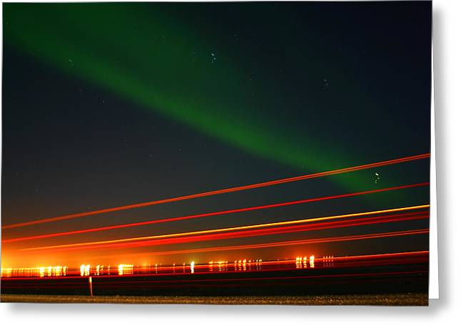 Northern Lights Greeting Card by Anthony Jones
