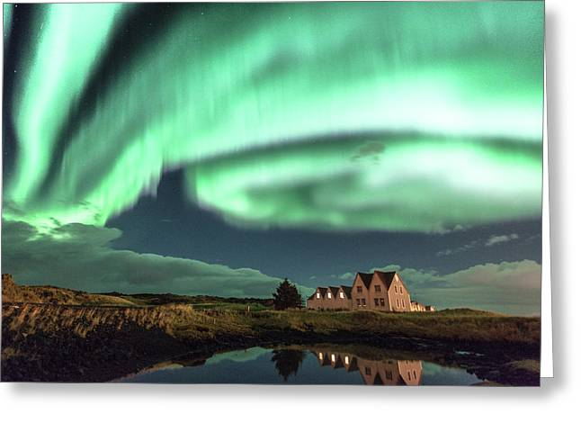 Northern Lights Greeting Card by Frodi Brinks