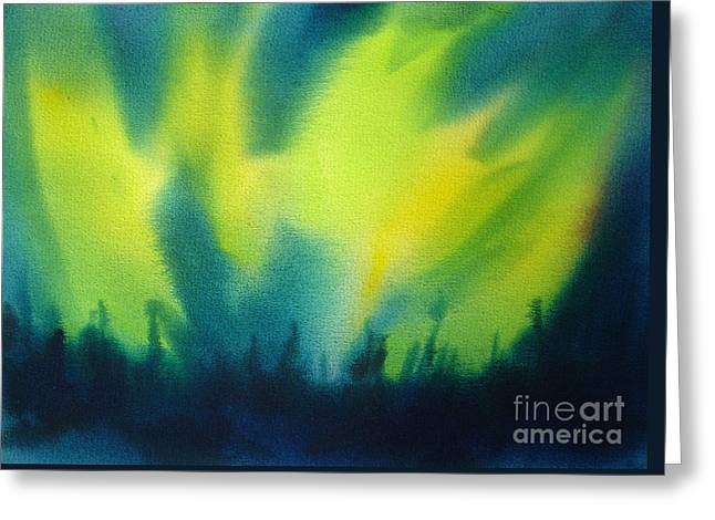 Northern Lights I Greeting Card by Kathy Braud