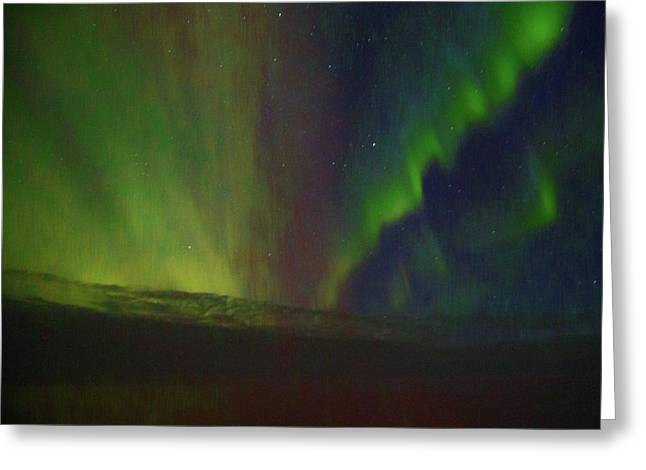 Northern Lights Or Auora Borealis Greeting Card