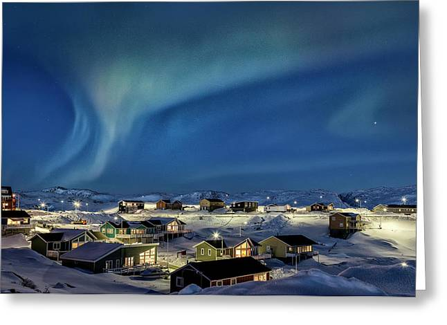 Northern Lights Over Ilulissat - Greenland Greeting Card