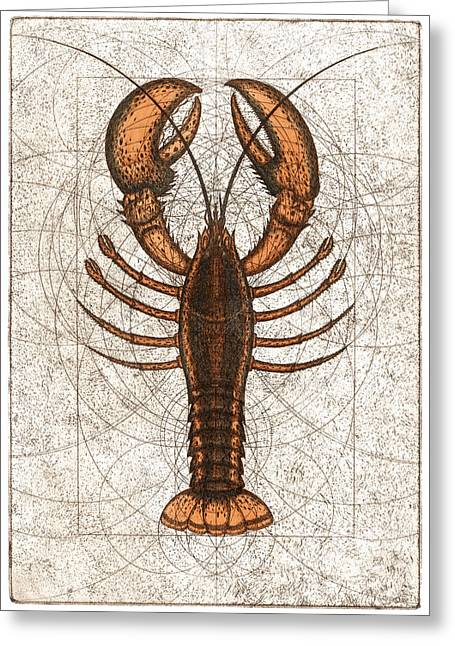 Northern Lobster Greeting Card by Charles Harden