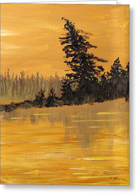 Greeting Card featuring the painting Northern Ontario Three by Ian  MacDonald