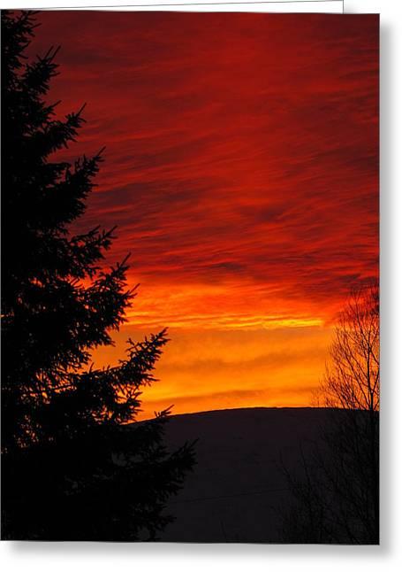 Northern Sunset 2 Greeting Card