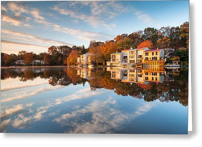 Northern Virginia Lakefront Townhomes Greeting Card