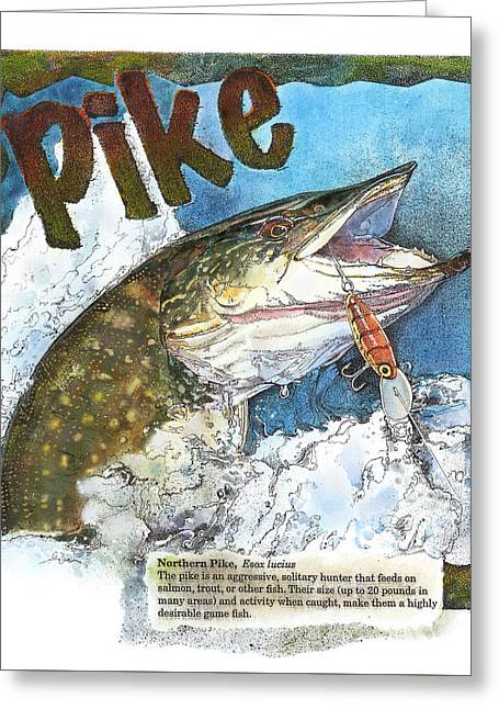 Northerrn Pike Greeting Card