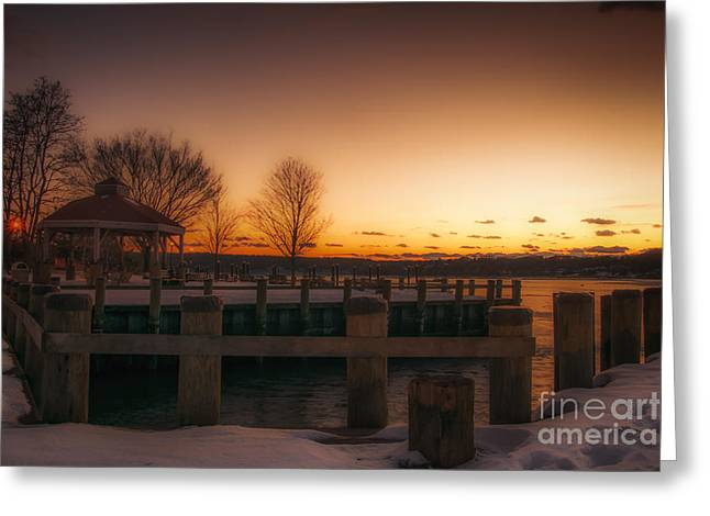 Northport Sunset Greeting Card