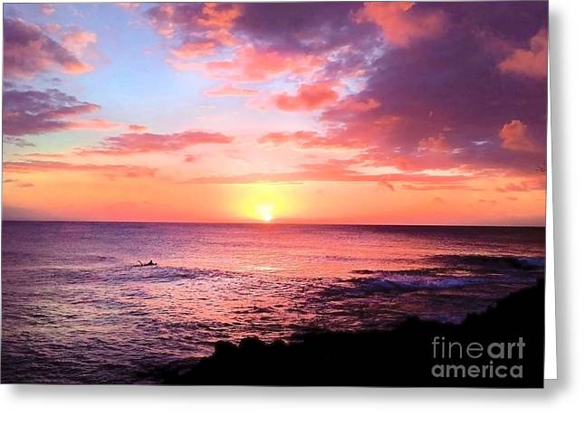 Northshore Sunset Greeting Card