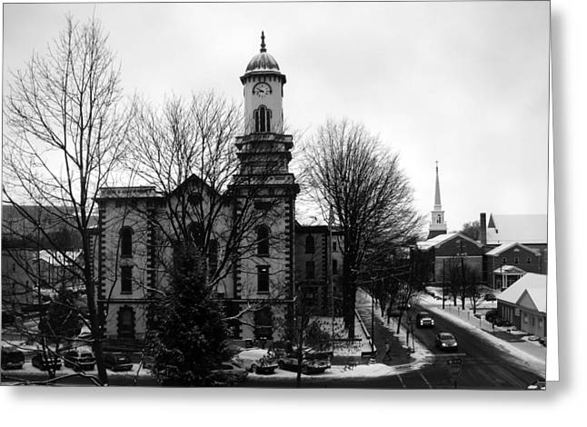 Northumberland County Courthouse Sunbury Pennsylvania  Greeting Card by George Jones