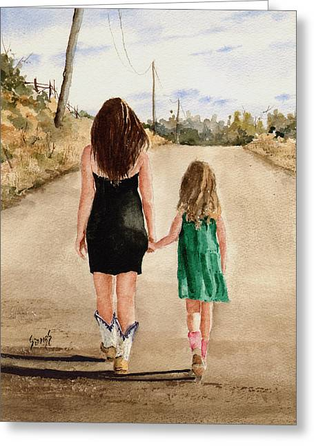 Northwest Oklahoma Sisters Greeting Card by Sam Sidders