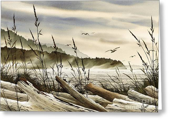 Northwest Shore Greeting Card by James Williamson