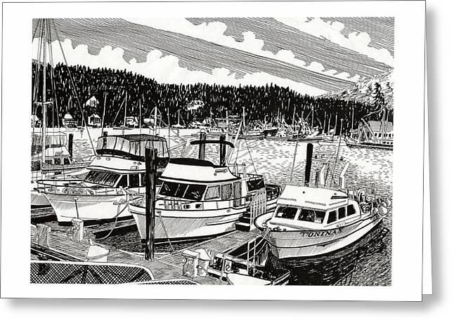 Northwest Yachting Gig Harbor Greeting Card