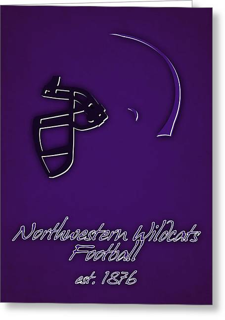 Northwestern Wildcats 2 Greeting Card by Joe Hamilton