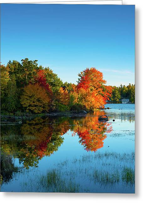 Northwood Lake Autumn Greeting Card
