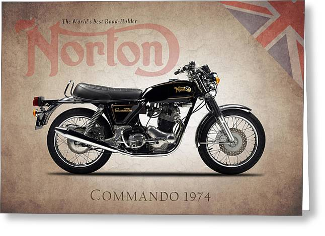 Norton Commando 1974 Greeting Card