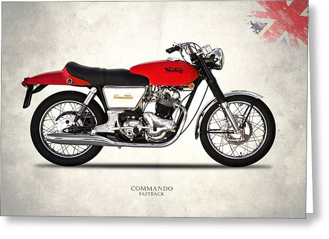Norton Commando Fastback Greeting Card