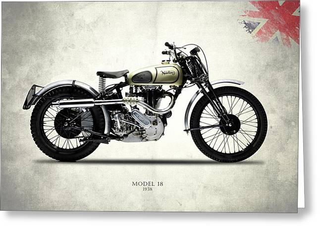 Norton Model 18 Trials 1938 Greeting Card by Mark Rogan