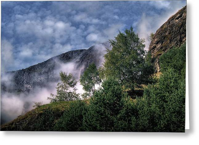 Norway Mountainside Greeting Card by Jim Hill