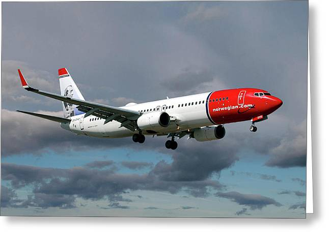 Norwegian Boeing 737-8jp Greeting Card