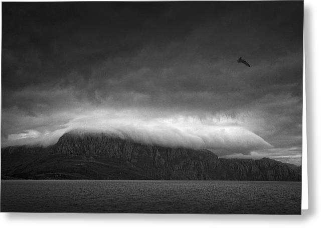 Norwegian Fjords, Carresed By Heavy Clouds! Greeting Card