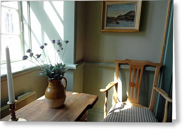 Norwegian Interior #2 Greeting Card by Susan Lafleur