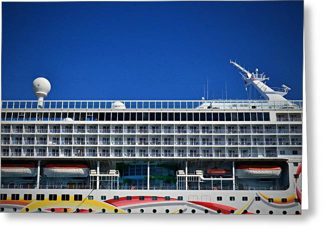 Norwegian Sun- Amidships Starboard Greeting Card by See My  Photos
