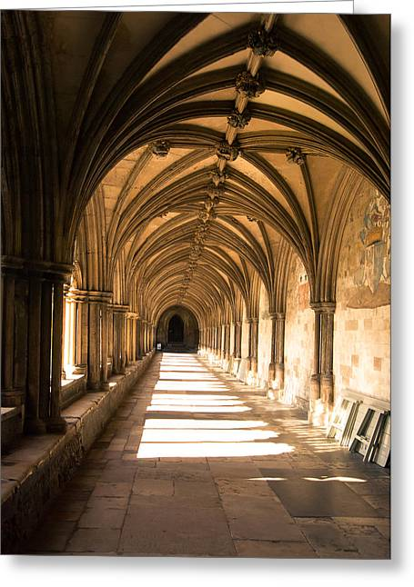 Norwich Cathedral Portico  Greeting Card