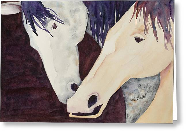 Nose To Nose II Greeting Card by Renee Chastant