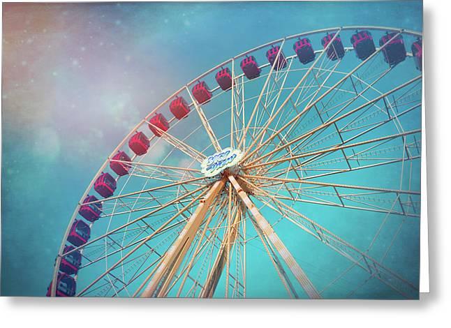 Nostalgic Ferris Wheel Geneva Switzerland  Greeting Card