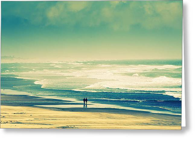 Nostalgic Oceanside Oregon Coast Greeting Card by Amyn Nasser