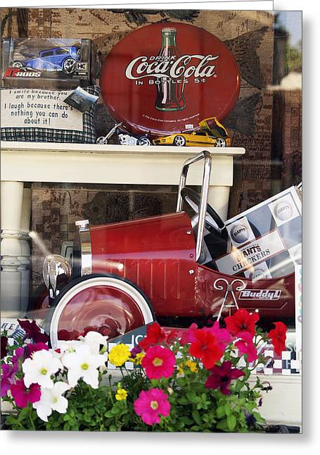 Nostalgic Window Display Greeting Card