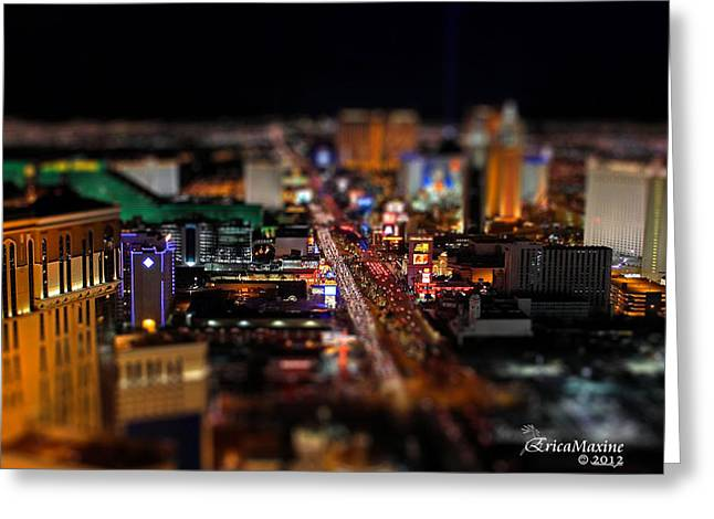 Not Everything Stays In Vegas - Tiltshift Greeting Card