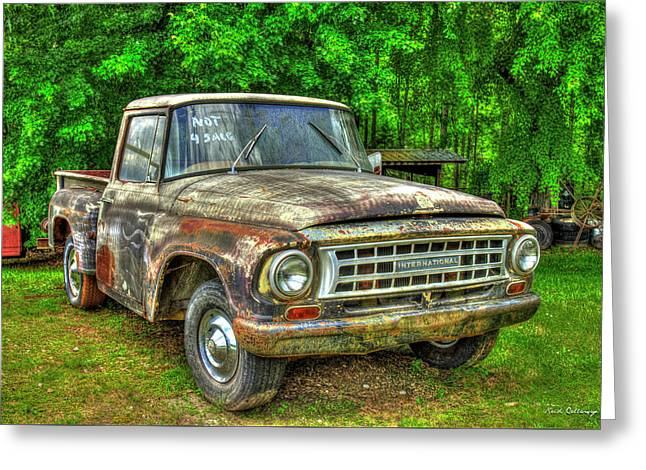 Not For Sale 1965 International Pickup Truck Greeting Card by Reid Callaway
