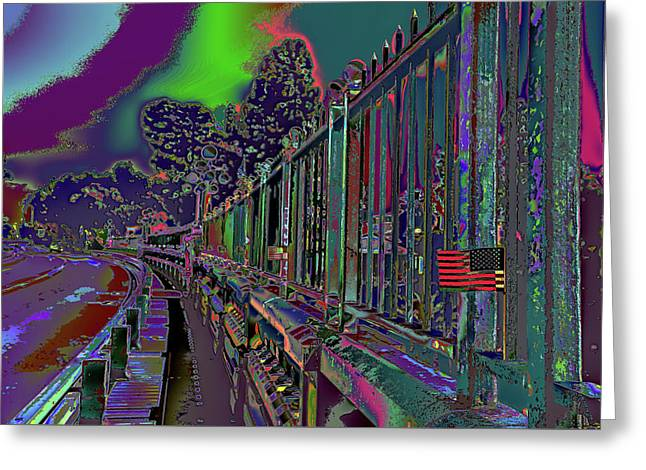 Not On Our Watch 2016 - Suicide Bridge Greeting Card by Kenneth James