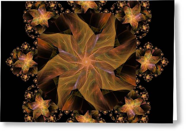 Not So Black Star / Kaleidoscope   Greeting Card by Elizabeth McTaggart