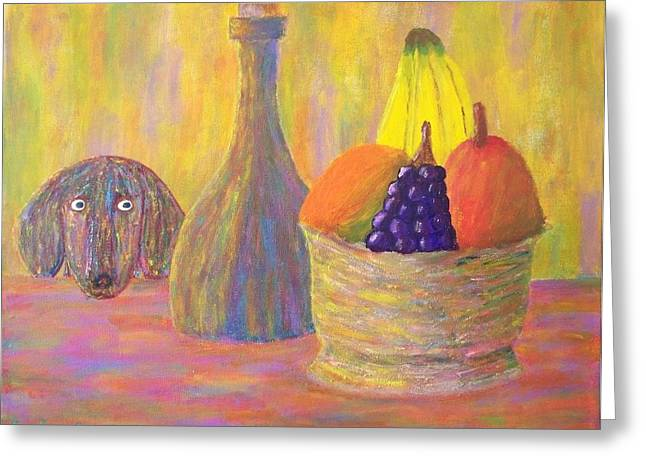 Not So Still Life Number One Greeting Card by Ricky Gagnon
