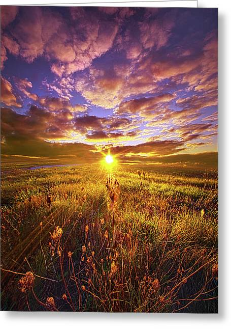 Not Yet Vanquished Greeting Card by Phil Koch